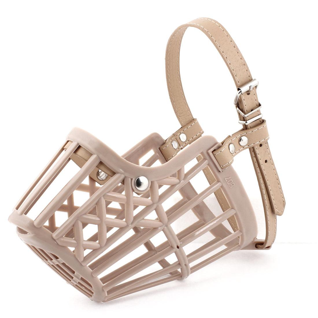 Unique Bargains 50cm-56cm Adjustable One Pin Fastener Strap Mesh Basket Cover for Dog