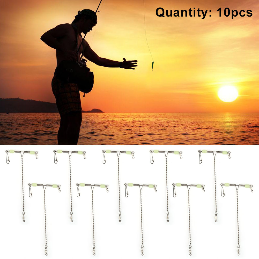 10pcs Fishing Tackle T-Shape Swivels Snaps for many Different kinds of Fishing