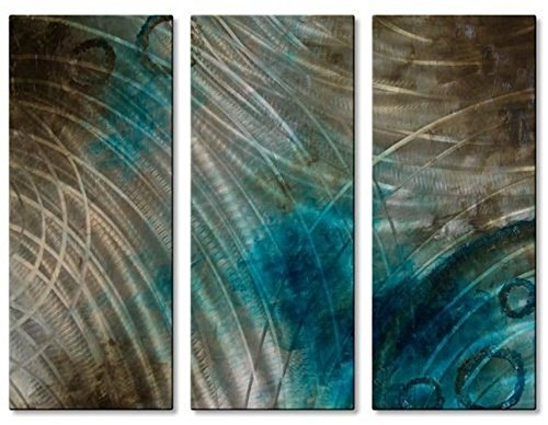 Metal Wall Artwork Sculpture Painting Abstract Modern Summer Solstice by All My Walls