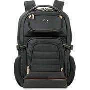 USLPRO7424, US Luggage Pro Backpack, 1, Black,Gold