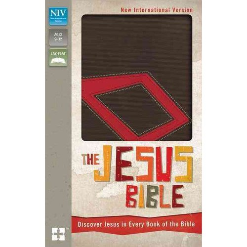 The Jesus Bible: New International Version Italian Duo-Tone, Chocolate/Red, Discover Jesus in Every Book of the Bible; Ribbon Marker