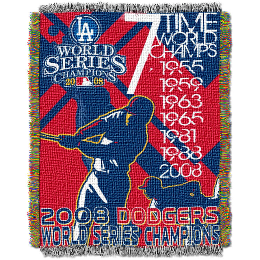 "MLB 48"" x 60"" Commemorative Series Tapestry Throw, Dodgers"