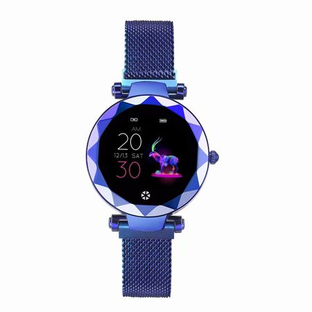 Smart Watch Fitness Wristband Women Bracelet IP67 Waterproof Blood Pressure Heart Rate Monitor Smartband Fitness Tracker Smartwatch Blue