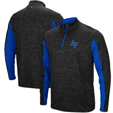 Air Force Falcons Colosseum Astroturf 1/4-Zip Windshirt - Heathered Black