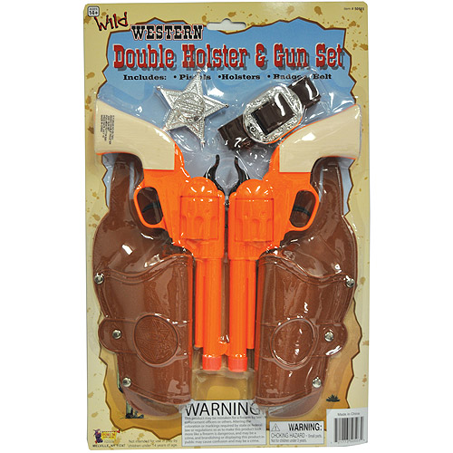 Double Holster and Gun Set Halloween Accessory
