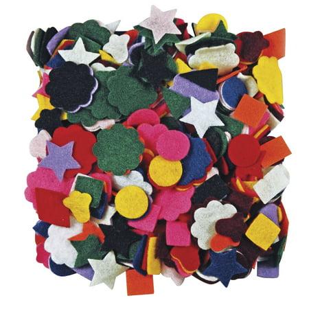 Roylco Pre-Cut Felt Shape, Assorted Colors, Pack of 500