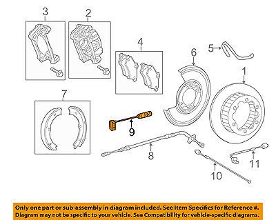 Dodge Sprinter 3500 02 03 04-06 E-//Parking Brake Shoes