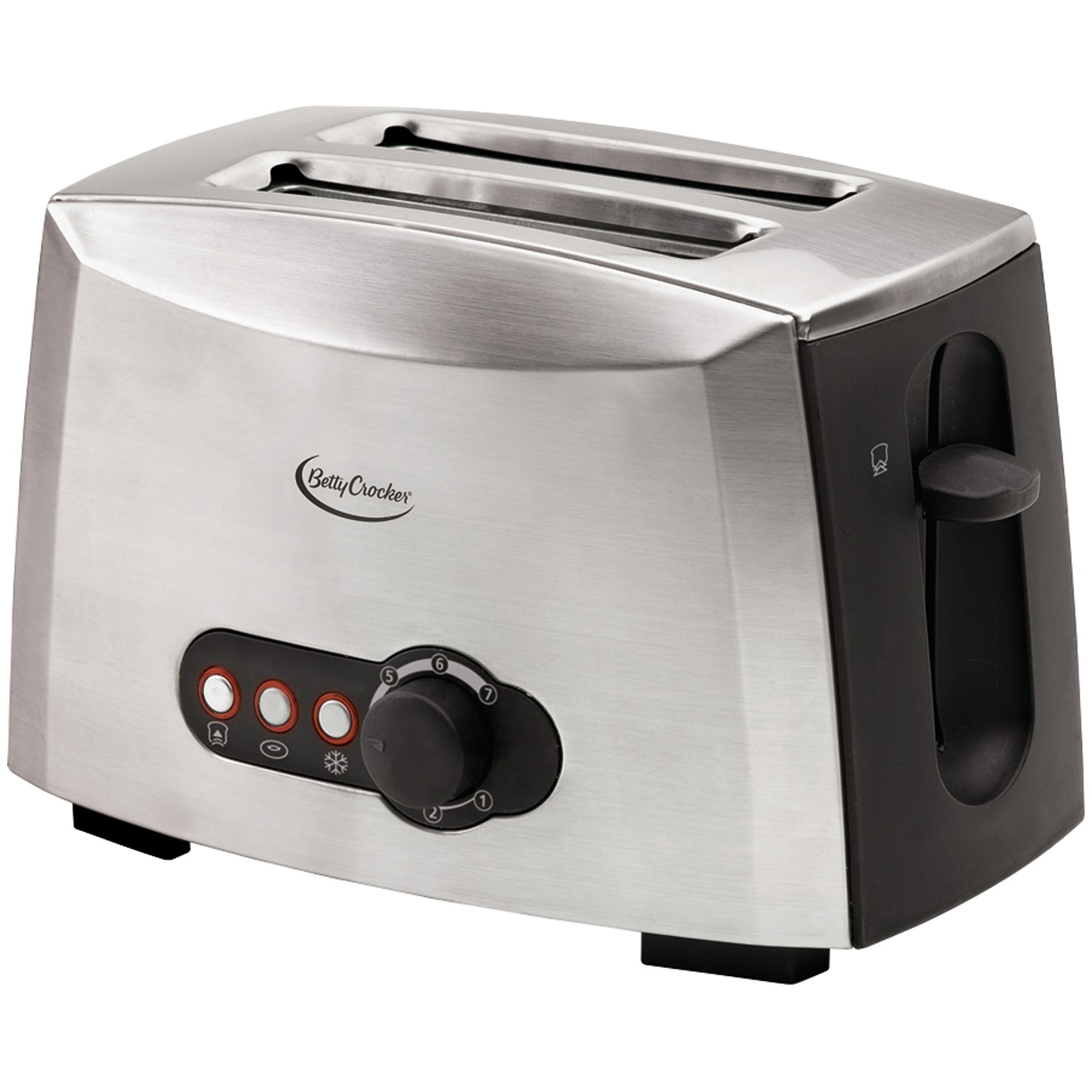 Betty Crocker 2-Slice Toaster, Brushed Stainless Steel by BETTY CROCKER