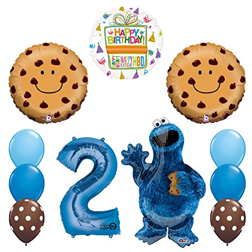 NEW! Sesame Street Cookie Monsters 2nd Birthday party supplies