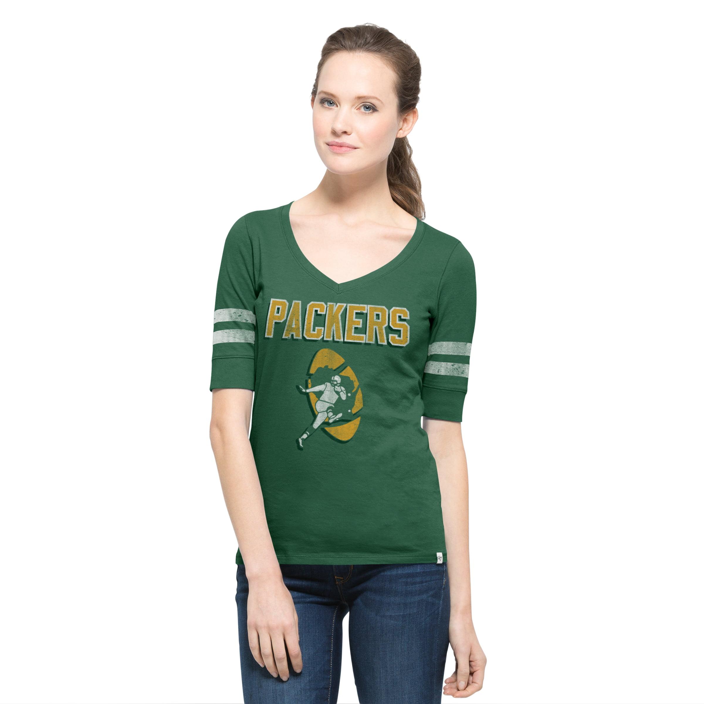 Green Bay Packers Pine Women's Flanker Stripe Tee
