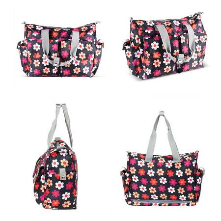 Water Repellent Nylon Shoulder Bag Handbag, Baby goods storage bag Travel Work Tote Storage bag