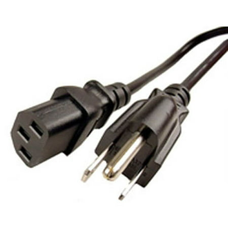 3 Prong Pin AC Power Cord Cable for PC Desktop Computer ()