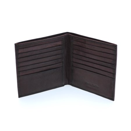 Mens Bifold Wallet Euro Hipster Slim Genuine Leather Cowhide New No ID