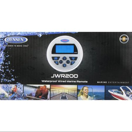 Jensen JWR200 Waterproof Wired Remote Control with Display by