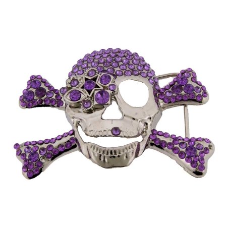 Skull Skeleton Belt Buckle Halloween Fashion Costume Gothic Tattoo Tribal
