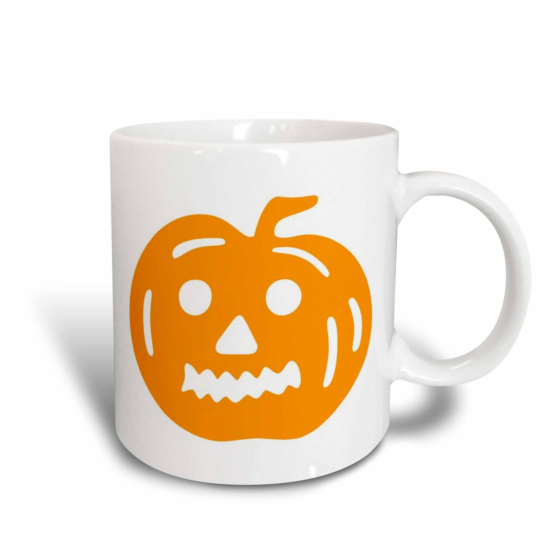 3dRose Orange Cutout Halloween Pumpkin, Ceramic Mug, 11-ounce