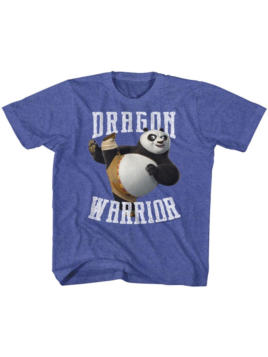 Kung Fu Panda Movie D Warrior Royal Heather Toddler Little Boys T-Shirt Tee