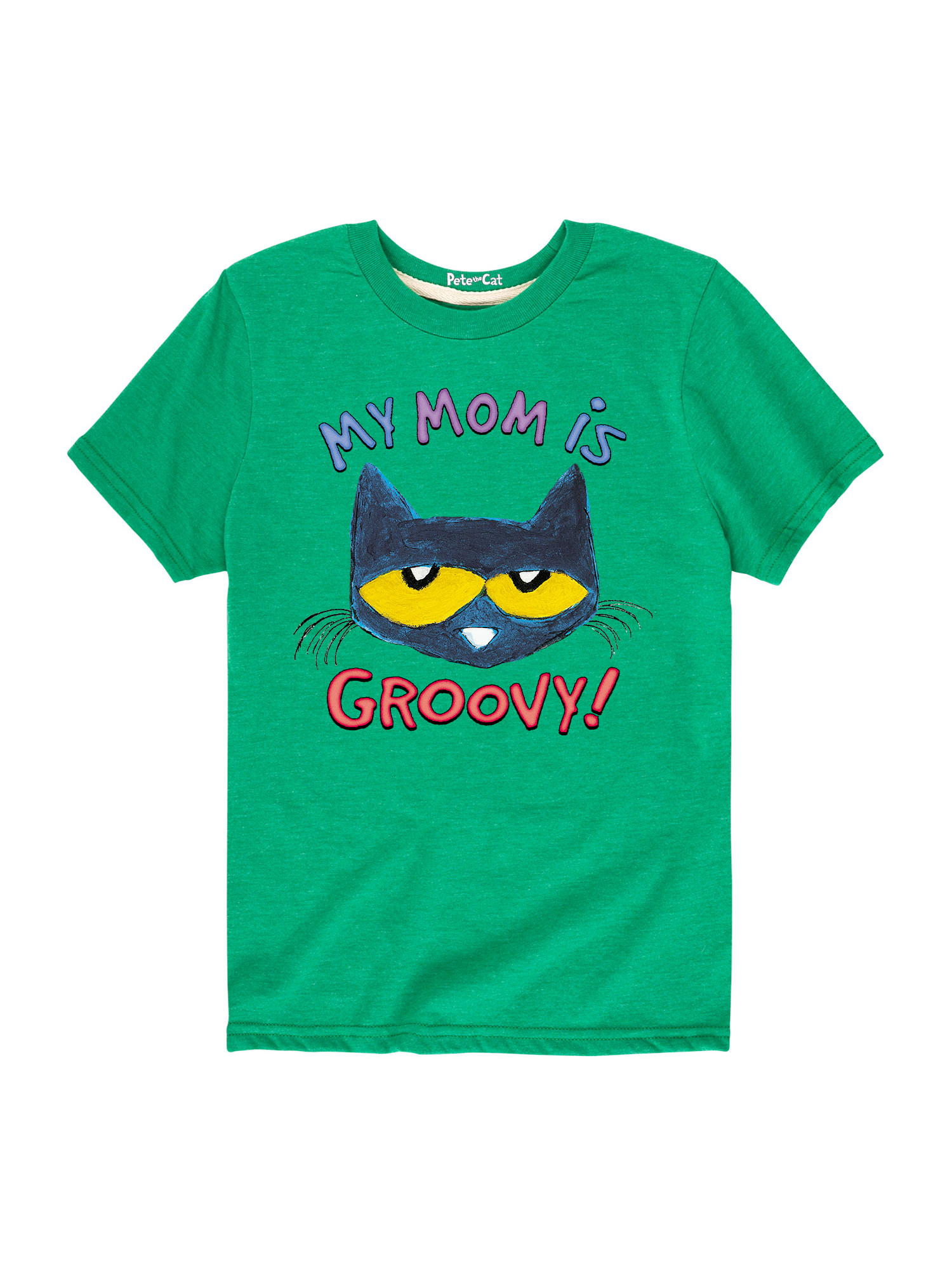 Pete The Cat My Mom Is Groovy - Toddler Short Sleeve Tee