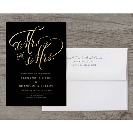 Mr and Mrs Deluxe Wedding (Rose Printable Invitations)