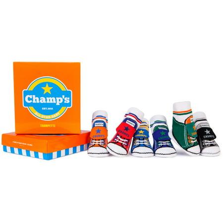 Trumpette Baby Boys' Champ's Socks 6-pack (0-12 mo.)