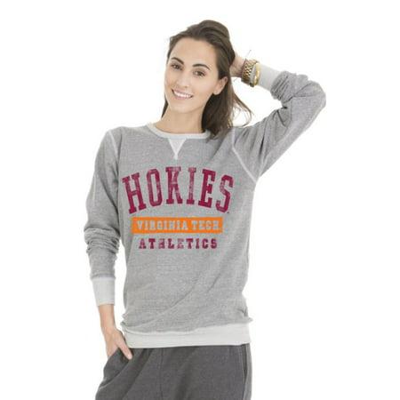 NCAA Virginia Tech Hokies Colby Tri-Blend Crew Neck Sweatshirt, Large, Tri-Grey