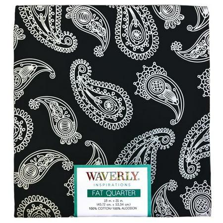 Waverly Inspiration Paisley ONYX Fat Quarter