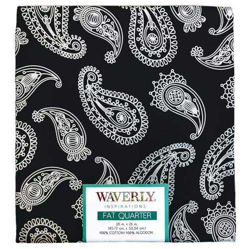 Waverly Inspirations Cotton Fat Quarter Paisley Print Fabric, 1 Each