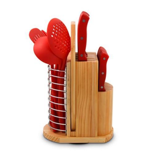 Ragalta USA PLCKS-100R Carousel Knife & Kitchen Tool Set, Red