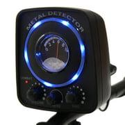 COSTWAY Détecteur de Métaux Imperméable Léger Longueur Réglable 83-114CM et LED Bleu,Son et Sensibilité Ajustable 112 x 19 x 26,5CM - image 10 de 10