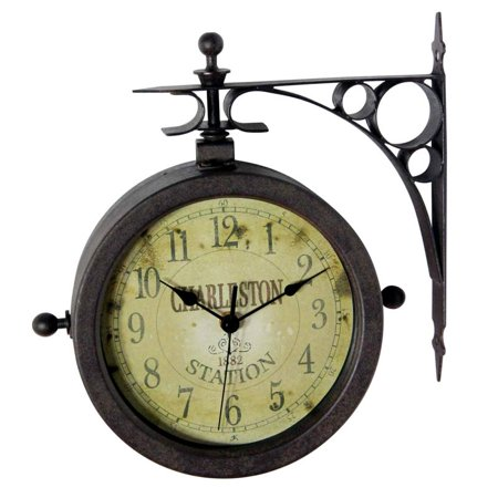 Infinity Instruments 12430CT-RUV2 The Charleston Two-Sided Indoor/Outdoor Hanging Clock