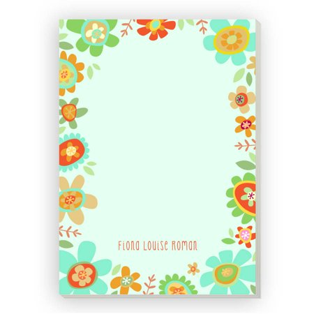Bright Floral Personalized (Floral Notepad)