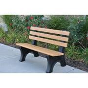 Jayhawk PB 6CEDCPAE Comfort Park Avenue Bench, Cedar - 6 ft.