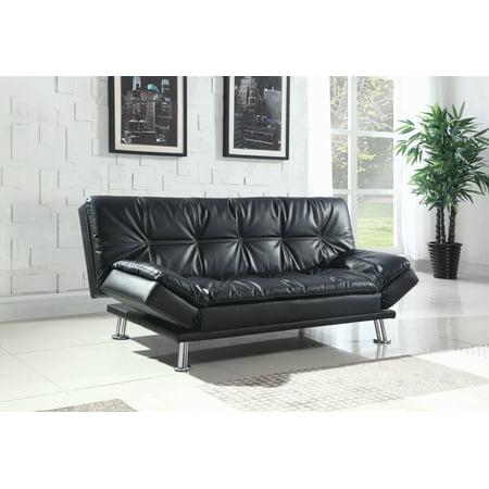 Dilleston Tufted Back Upholstered Sofa Bed Black