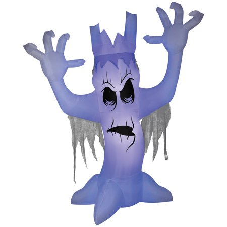 Scary Tree with Black Light Effect Airblown Halloween Decoration