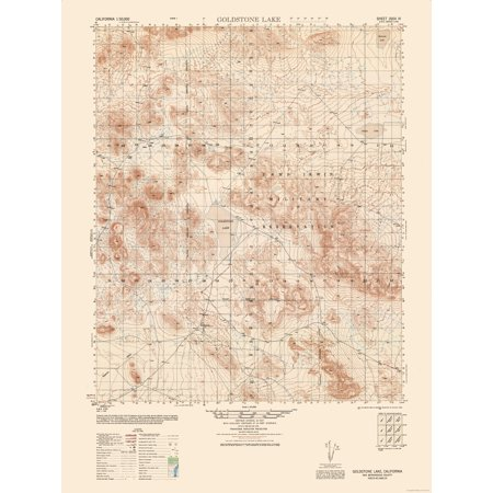 Topographic Map Goldstone California Sheet Army 1948 23 X