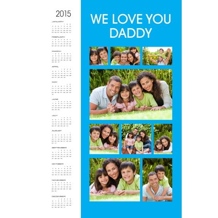 11x14 Calendar Collage Poster, Matte Photo Paper Block Out Matte Paper