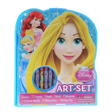 Disney Princess 34pc Art Set with Crayons, Colored Pencils, Paints MoreSet includes 12 crayons, 1 pencil, 1 brush, 1 sharpener, 6 colored pencils.., By Artistic Studios Ltd](Crayon Pencil)