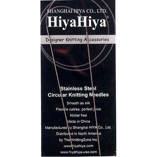 Hiyahiya Circular 16-Inch (41Cm) Steel Knitting Needles; Size Us 10.85 (7.5Mm) Histcir16-10.85