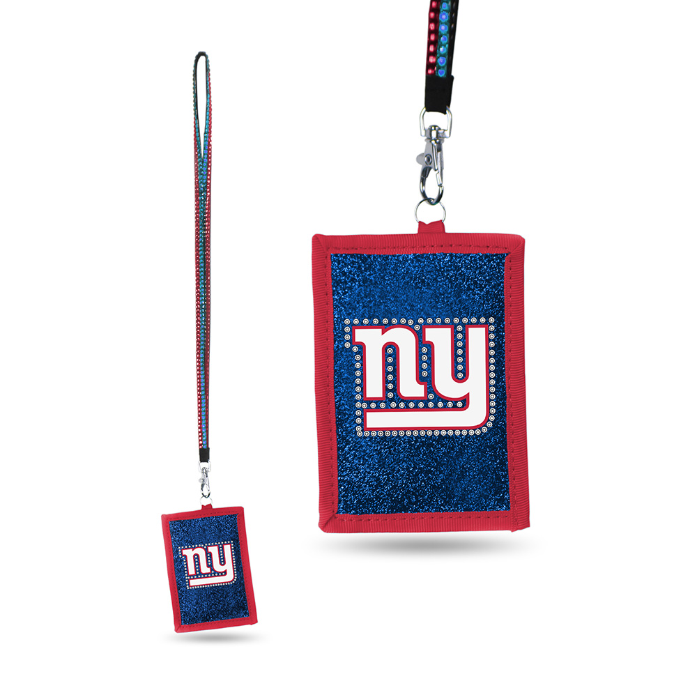 New York Giants NFL Lanyard with Nylon Wallet