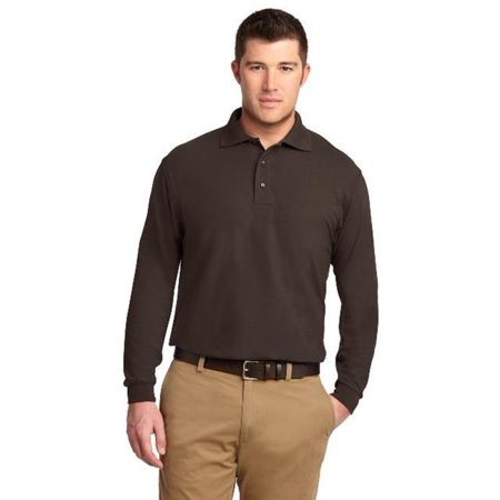 d7804502ce6 Port Authority - Port Authority TLK500LS Mens Silk Touch Long Sleeve Polo  T-Shirt  44  Coffee Bean - Large Tall - Walmart.com