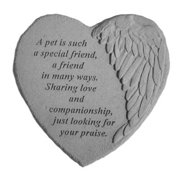 Kay Berry 08914 Winged Heart Memorial Stone - A Pet Is Such...