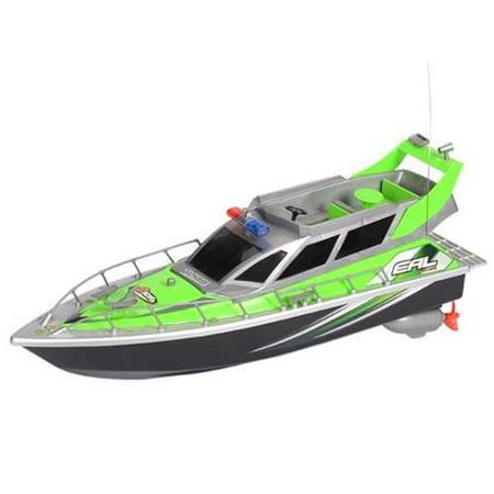 AZ IMPORT & TRADING B87F Green RC Patrol Boat Green