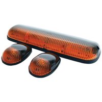Pacer Performance 20-240 Hi-Five Amber Chevy Style Cab Roof Light Kit, (Pack of