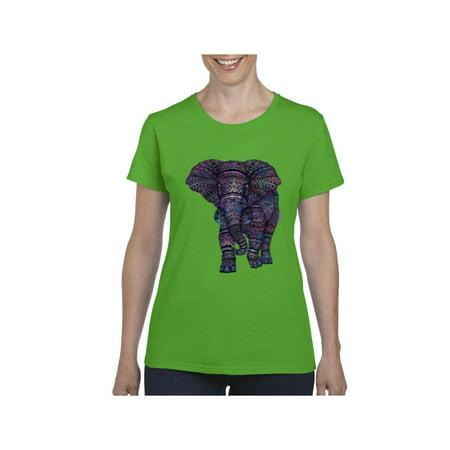 Elephant Women Shirts T-Shirt - Elephant Womens Light