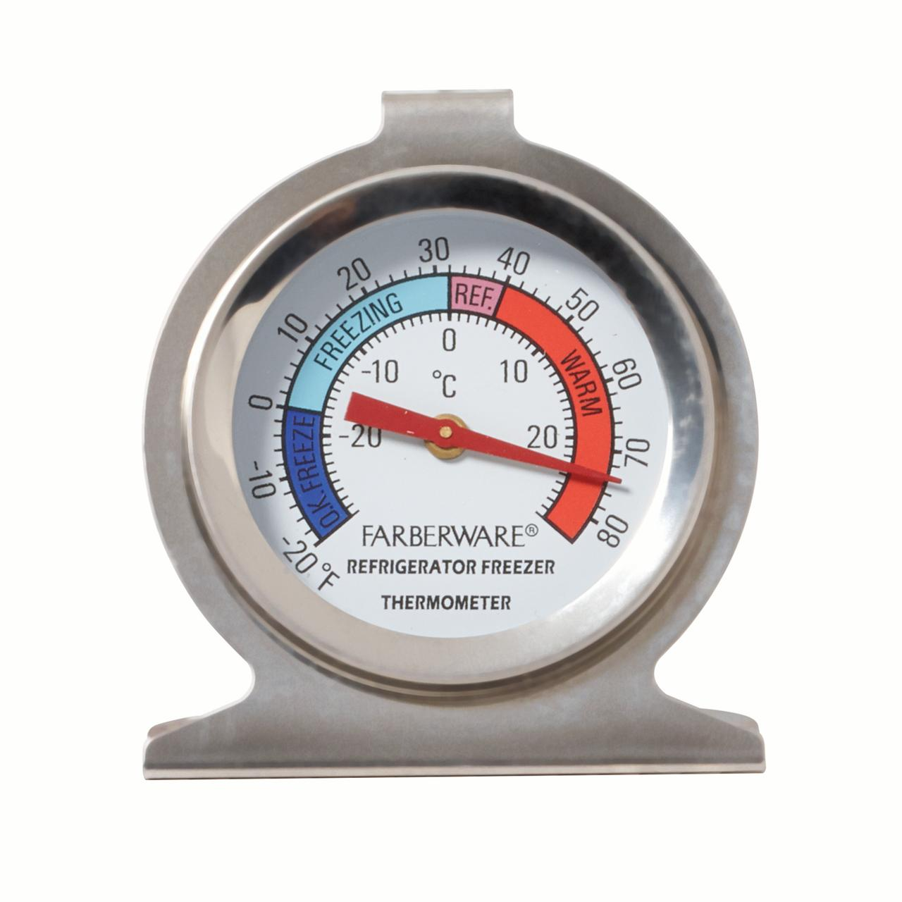 Farberware Protek Refrigerator Thermometer With Easy Read Display
