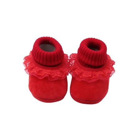 Babula Baby Toddler Boy Girl Anti Slip Boots Warm Winter Lace Shoes