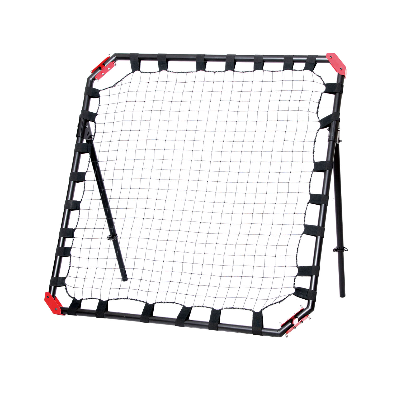 NET PLAYZ Portable Soccer Rebound Net, 4 Ft x 4 Ft Rebounder, Easy Set Up, Sturdy Metal Tube, With Quick Folding Design, No Assembly Needed! Multi Angle Adjustment, Carry Bag Included