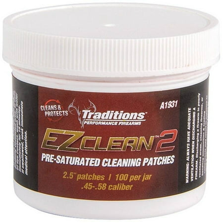 Traditions Cleaning Patches - Traditions Performance Firearms EZ Clean 2 Pre-Saturated Cleaning Patches