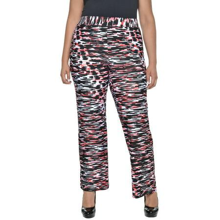 Plus Size Elastic Waistband Print Pants