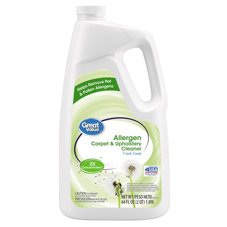 Great Value Allergen - Full Size Carpet Cleaning Formula Cleaner, 64 oz,